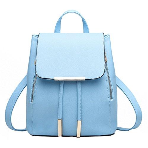 Mossimo Black Belt (Hanshu PU Leather Solid Embossing Backpack Bags, Lightweight Tote Tassels Daypacks, Sky)