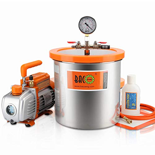 Used, BACOENG 3 Gallon Vacuum Chamber Kit with 3.6 CFM 1 for sale  Delivered anywhere in USA