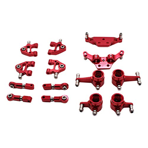 vmree✮ Metal Full Set Upgrade for Wltoys 1/28 Scale P929 P939 K979 K989 K999 K969 Rc Model Car Parts Truck Accessories (Red) ()
