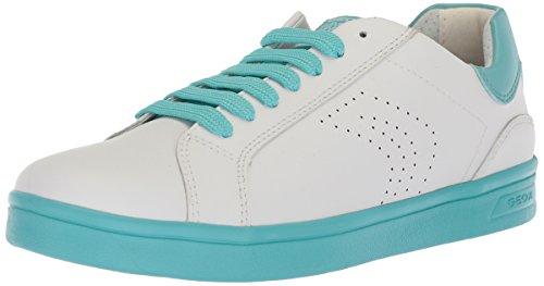 Geox J Djrock a, Zapatillas Para Niñas Blanco (White/lake)