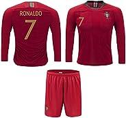 JerzeHero Portugal Ronaldo #7 Kids Youth Soccer Gift Set ✓ Soccer Jersey ✓ Shorts ✓ Home or Away ✓ Short Sleev