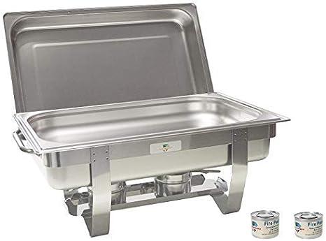 9L Chafing Dish 1//3GN Einsätze Warmhaltebehälter Speisewärmer Behälter Edelstah