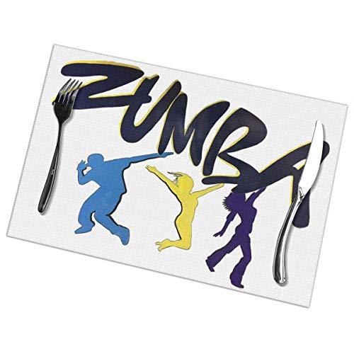Nice Music Zumba Wall Dance Funny 6 Piece