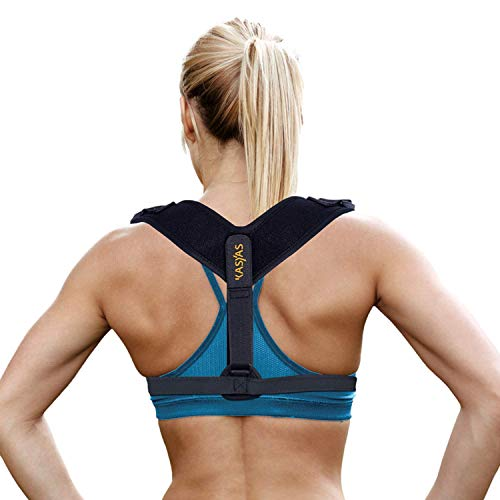KASYAS Back Posture Corrector for Women & Men - Fully Adjustable Small to Plus Size Clavicle & Back Support Back Aid Improves Posture | Under Clothes Discreet Neck, Shoulder & Back Pain Relief
