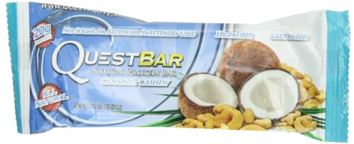 Quest Bar Protein Bar, Coconut Cashew, 2.11 Ounce (Pack of 12)