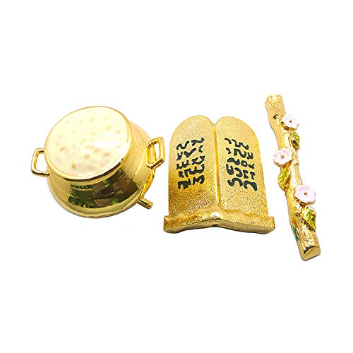 Ark of The Covenant - Contents - Aaron Rod/Manna Vessel & Tablets (3 Inches) (Pics Of The Ark Of The Covenant)
