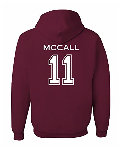 The Creating Studio Adult McCall 11 Beacon Hills Lacrosse 2-Sided Hoodie (Medium, Maroon) - Mccalls Fashion