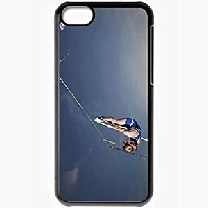 Personalized iPhone 5C Cell phone Case/Cover Skin Acrobatic jump 36239 Black by icecream design