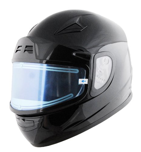Vega Mach 2.0 Jr Electric Snow Full Face Helmet (Gloss Black, Small)
