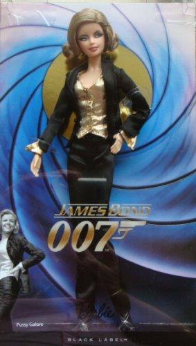 - Barbie Collector Black Label James Bond 007 Goldfinger Pussy Galore Doll