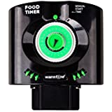 KEDSUM Daily 6 Times Automatic Fish Feeder Aquarium Tank Feeders Auto Food Timer Pet Feeding Dispenser on Schedule with Time Dials / Bracket Manual Start Time for Everyday and Holiday - Black