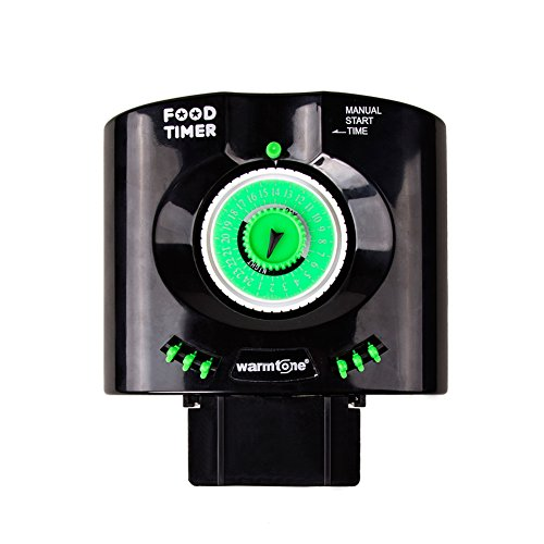 Daily 6 Times Automatic Fish Feeder Aquarium Tank Feeders Auto Food Timer Pet Feeding Dispenser on Schedule with Time Dials / Bracket Manual Start Time for Everyday and Holiday