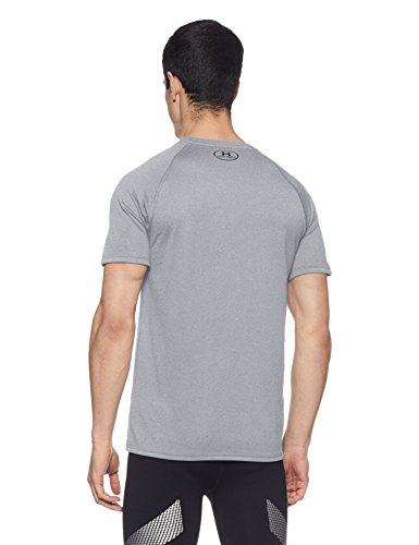 Under Armour Men's Tech Short Sleeve T-Shirt, True Gray Heather /Black, XXXXX-Large by Under Armour (Image #2)