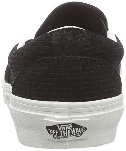 black Mujer Classic Negro Zapatillas Leather Suede braided on Vansu Slip Perf ZqRS6vv
