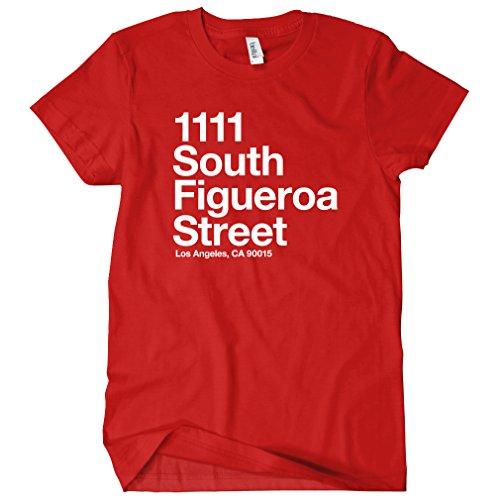 Smash Vintage Women's Los Angeles Basketball Stadium T-Shirt - Red, - Women's Santa Center Monica