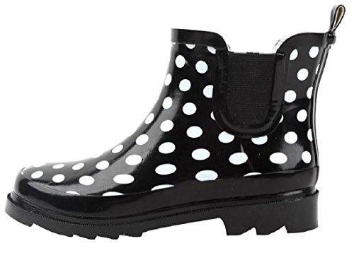 Sh18es Shoes8teen Kvinners Korte Regnstøvler Utskrifter Og Faste Stoffer 1118 Polka
