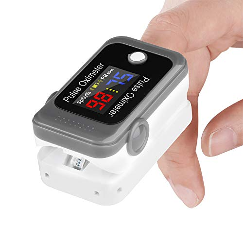 Bluetooth Fingertip Pulse Oximeter, Tomorotec SpO2 (Blood Oxygen Saturation Level) and PR (Pulse Rate) Monitor with Batteries and Lanyard for Sports and Aviation