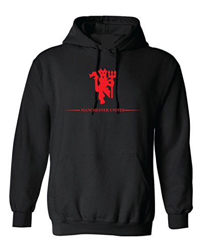 Local Imprint Manchester United Hoodie-XL-Blk-Rd-U33 Blk Hoodie