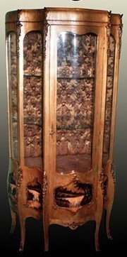 Barock Vitrine Schlag Gold Antik Stil MoGl0487