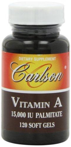Carlson Labs Vitamin A Palmitate, 15000 IU, 120 Softgels