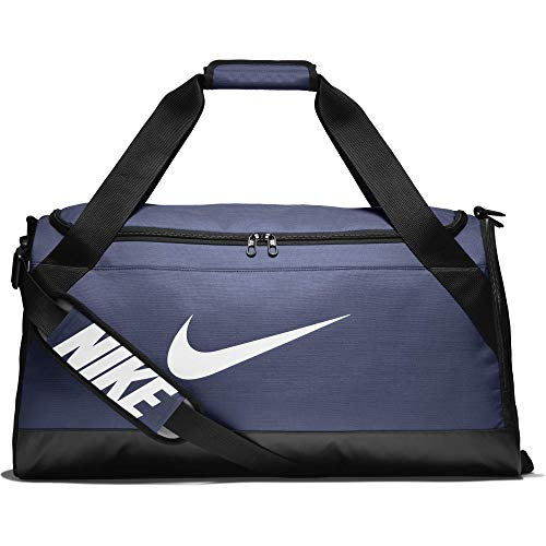 NIKE Brasilia Training Duffel Bag, Midnight Navy/Black/White, Medium