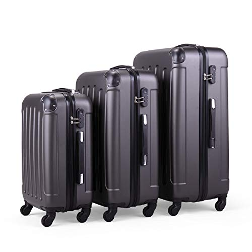 - LAZYMOON Waterproof 3Pcs Travel Luggage Suitcase Set Dustproof Cover Protector Case Gray