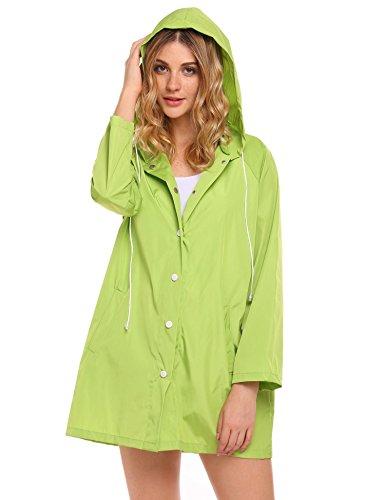 Green Womens Raincoat - 5