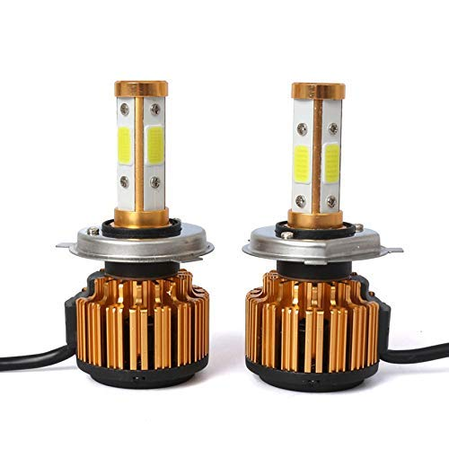 H4 9003 HB2 LED Headlight Bulbs 72W 12000LM 6000K COB Chips Extremely Cool White, All-in-One Conversion Kit Auto High/low Beam Fog Lamps, 1 Pair - 2 Year Warranty by LIGHTONE