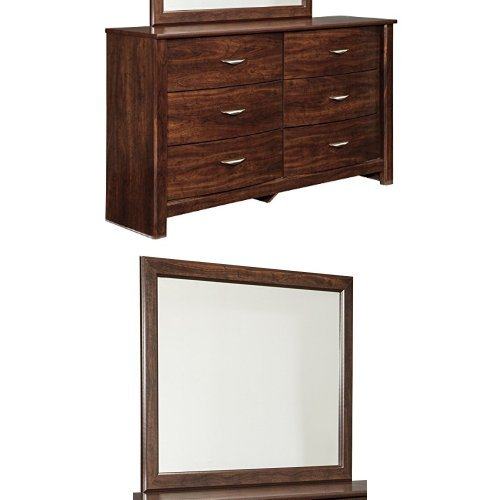 Ashley Furniture Signature Design   Corraya Dresser U0026 Mirror   Contemporary  Bedroom Chest Of Drawers