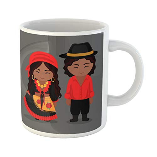 Emvency Funny Coffee Mug Gypsies in Traditional Costume