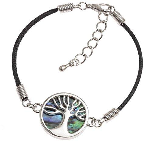 BellaMira Abalone Tree of Life Cord Bracelet ()