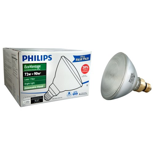 Philips 428805 Halogen PAR38 90 Watt Equivalent Dimmable Flo
