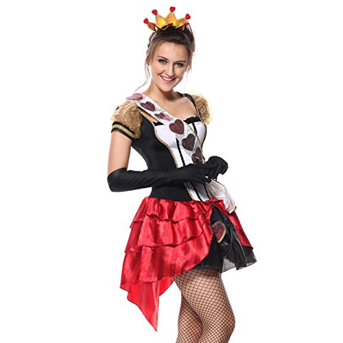Halloween Costume for Women Deluxe Royal Queen Anime Red Cosplay -