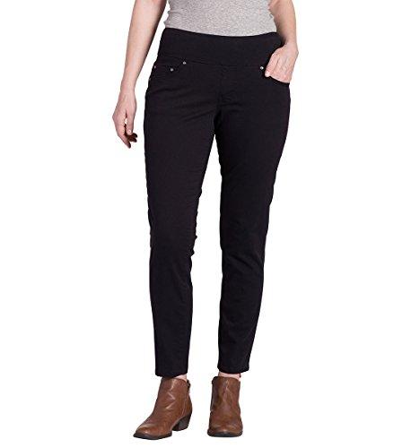 Jag Jeans Women's Amelia Slim Ankle Pull on Jean, Black, 10