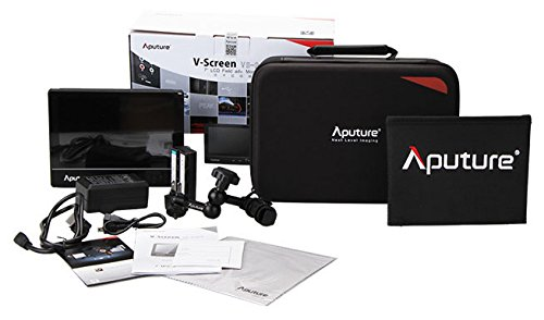 Aputure VS-2 V-Screen 7' LCD Professional Field Monitor Kit; 1024 x 600 display with...