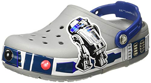 Crocs Kids' Crocband R2-D2 Lights Clog, light grey, 11 M US Little Kid ()