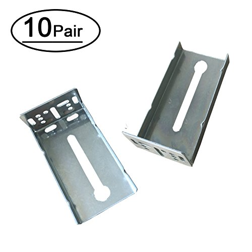 Mount Brackets Cabinet Side - 10 Pairs Rear Mounting Brackets for Drawer Slide - LONTAN B4502 Cabinet Drawer Bracket for Face Frame Cabinets for 1.77 inch(45mm) Width Drawer Gildes