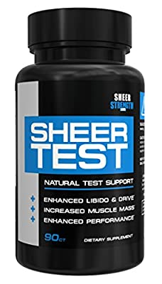 Sheer Testosterone Booster for Men - Natural Supplement for Increasing Strength, Stamina, and Energy, 90 Testosterone Boosting Capsules, 30 Day Supply from Sheer Strength Labs