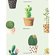 Bullet Journal: Large 8x10 Cactus Journal - Dot Grid Interior - Gifts for Cactus Lovers