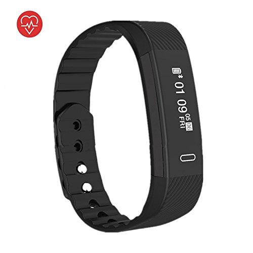 ZHAGOO Fitness Tracker - Imperméable À L'eau, Podomètre D'affichage Couleur Tactile - Bluetooth Smart Bracelet, Moniteur De Sommeil Android Et Ios Smartphones