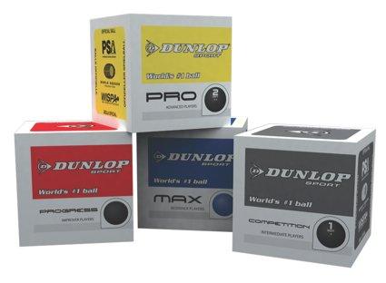 Dunlop SquashbŠlle 3StŸck alle Farben/Geschwindigkeiten 3x blau
