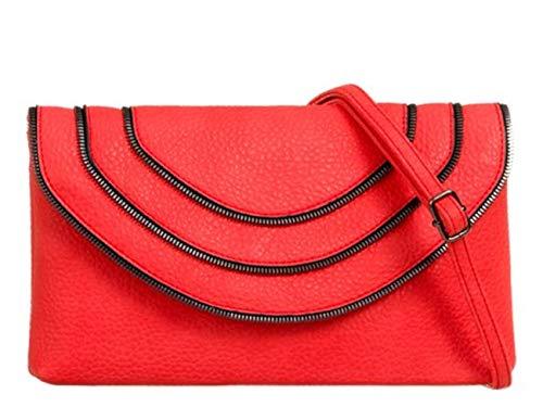 Bag Night Clutch Women's Out Wedding Scarlet Leather Purses 722 Ladies Handbags Faux LeahWard 4wpI0qxZw