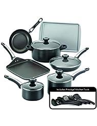 Farberware 21809 High Performance Nonstick Cookware Set, Black