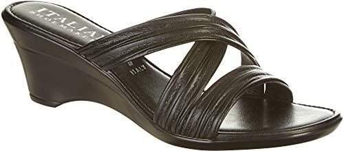 (ITALIAN Shoemakers Womens Cruise Wedge Sandals 10 Black)