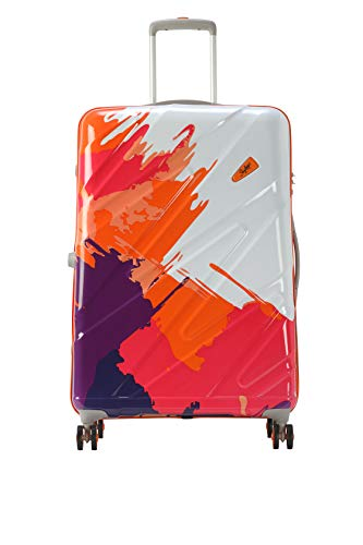 Skybags Mirage NXT 4W Hard Side Polycarbonate Check-in Luggage, Orange, 69 cm Trolley Bag