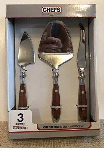 CHEFS Cheese Knife Set Bistro Woodgrain
