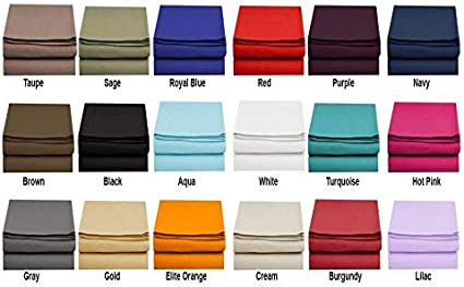 hdg Premium Collection Microfiber Single Flat Sheets 2800 Series Count 18 Colors Black, Twin//Twin XL