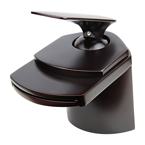 YAJO Modern Single Handle Widespread Waterfall Spout Bathroom Vessel Sink Faucet, Oil Rubbed Bronze ()