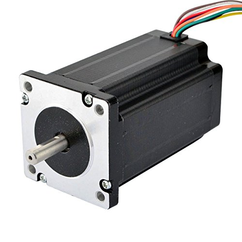 Nema 24 Stepper Motor 4Nm 3A 8-wire 8mm Dual Shaft CNC Mill