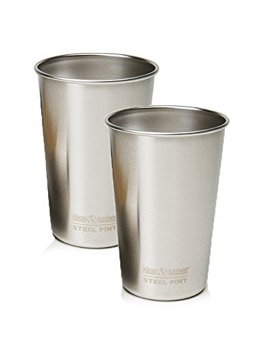 Klean Kanteen Stainless Steel Tumbler (Brushed Stainless, 16-Ounce (2 Pack))